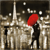 A Paris Kiss Art Print