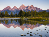 Sunrise on the Teton Mountains at Schwabacher Landing