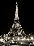 Eiffel Tower - Bateau mouche vedette de Paris - France Photographic Print