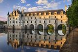 Evening Sunlight, Chateau Chenonceau, Castle, River Cher, Indre-Et-Loire, France