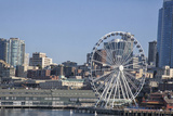 Seattle Waterfront with the Great Wheel on Pier 57, Seattle, Washington, USA