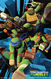 Teenage Mutant Ninja Turtles Attack Cartoon Poster