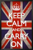Buy Keep Calm and Carry On (Motivational, Union Jack Flag) at AllPosters.com