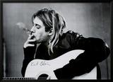 Kurt Cobain Lamina Framed Poster