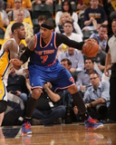 Indianapolis, IN - May 14: Carmelo Anthony and Paul George