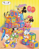 Disney Babies: Alphabet Blocks Walt Disney Poster Print