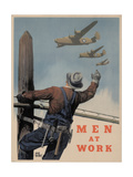 Military and War Posters: Men at Work. Adolph Treidler