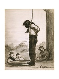 Cartoon of Tom Mooney About to Be Executed by Hanging, by Robert Minor