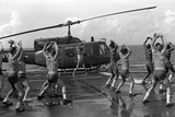 Marines Doing Jumping Jacks on Amphibious Assault Ship USS New Orleans, Aug. 1982