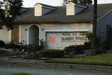 Hurricane Katrina Evacuatees Have Marked their Home in Slidell Louisiana, Sept. 2005