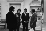 Richard Nixon Meeting Elvis Presley and His Two Friends Jerry West and Sonny Baker. Dec. 21 1970