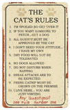 Cat Rules Tin Sign Tin Sign