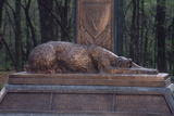 Irish Wolfhound on the Monument to NY's Irish Brigade, Little Round Top, Gettysburg Battlefield
