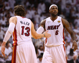 Miami, FL - June 20: LeBron James and Mike Miller