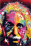 Albert Einstein by Dean Russo Pop Art Print Poster