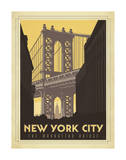 New York City: The Manhattan Bridge Art Print