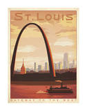 St. Louis, Missouri: Gateway To The West Art Print