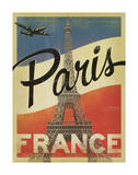 Paris, France (Flag) Art Print