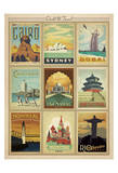 World Travel Multi Print II Art Print