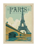 Paris, France (Eiffel Tower Blue Sky) Art Print