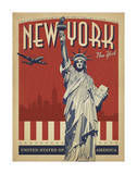 New York, NY (Statue of Liberty) Art Print