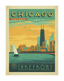 Chicago, Illinois: Enjoy The Lakefront Art Print