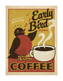 Early Bird Blend Coffee Art Print