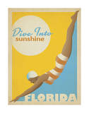Dive Into Sunshine: Florida Art Print