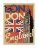 London, England (Flag) Art Print