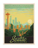 Come Visit Beautiful Seattle, Washington Art Print