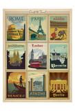 World Travel Multi Print I Art Print