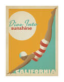 Dive Into Sunshine: California Art Print