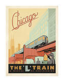 Chicago: The 'L' Train Art Print