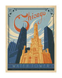 Chicago Water Tower Art Print