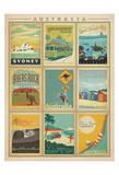 Australia Multi Print Art Print