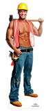 Chippendale Billy Jeffrey - Construction Worker Lifesize Standup Stand Up