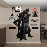 Batman Catwoman Duo Arkham City Wall Decal Sticker