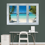 Buy Virgin Islands Beach Instant Window Wall Decal Sticker at AllPosters.com