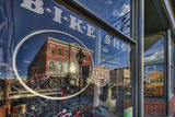 The Window of the Cycles of Life Bike Shop On the Main Street of Leadville