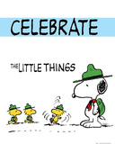 Peanuts Celebrate the Little Things Comic Poster