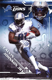 Calvin Johnson Jr. Detroit Lions NFL Sports Poster