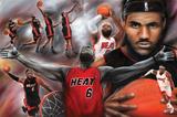 LeBron James Collage Miami Heat NBA Sports Poster
