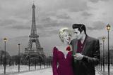 Paris Sunset (Marilyn Monroe and Elvis Presley) by Chris Consani
