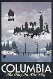 Columbia Retro Travel Poster Premium Poster