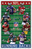 NFL - Running Backs Sports Poster