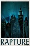 Rapture Retro Travel Poster Premium Poster