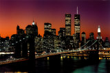 New York, New York - Brooklyn Bridge Poster