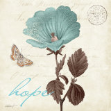 Touch of Blue III, Hope Art Print