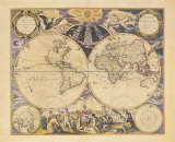 New World Map, c.1676