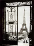 Paris, France, View of the Eiffel Tower,